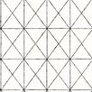 """Brewster Home Fashions Intersection 33' x 20.5"""" Geometric Wallpaper"""