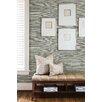 "Brewster Home Fashions Jade Barbora Grasscloth 24' x 36"" Gingham Wallpaper"