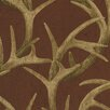 "Brewster Home Fashions 33' x 20.5"" Antler Damask Wallpaper"