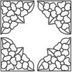 Brewster Home Fashions Pansy Corners Stained Glass Appliqué Window Sticker