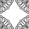 Brewster Home Fashions Bouquet Corners Stained Appliqué Window Sticker