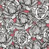 "Brewster Home Fashions Zinc Calista Modern 33' x 20.5"" Rose 3D Embossed Wallpaper"