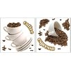 Brewster Home Fashions Euro Coffee Wall Decal