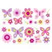 Brewster Home Fashions Euro Flowers and Butterflies Wall Decal