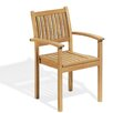 Oxford Garden Warwick Stacking Dining Arm Chairs (Set of 2)
