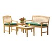 Oxford Garden Chadwick 4 Piece Seating Group with Cushions