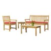 Oxford Garden Classic 4 Piece Seating Group with Cushions