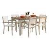 Oxford Garden Travira 7 Piece Tekwood Dining Set