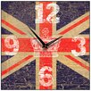 Smith & Taylor Union Jack Crown Vintage Square Wall Clock
