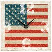 Smith & Taylor USA Flag Antique Square Wall Clock