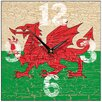 Smith & Taylor Welsh Dragon Square Wall Clock