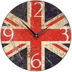 Smith & Taylor 28.2 cm Union Jack Shabby Round Wall Clock
