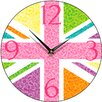 Smith & Taylor 28.2 cm Union Jack Multiflora Round Wall Clock