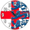 Smith & Taylor Smith Taylor 28.2cm Three Lions Round Wall Clock