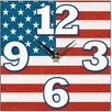 Smith & Taylor Smith Taylor Stars and Stripes Square Wall Clock