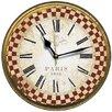 Smith & Taylor Smith Taylor 28.3cm Paris 1898 French Check Border Wall Clock