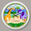 "Olive Kids Wild Animals Personalized 12"" Wall Clock"