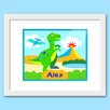 Olive Kids Dinosaur Land Personalized Framed Art
