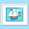 Olive Kids Pirates Personalized Framed Art