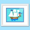 Olive Kids Pirates Personalized Framed Art