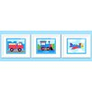 Olive Kids 3 Piece Trains, Planes and Trucks Personalized Framed Art Set