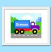 Olive Kids Under Construction Personalized Framed Art