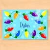 Olive Kids Christmas Lights Personalized Placemat