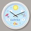 """Olive Kids Up and Away Personalized 12"""" Wall Clock"""