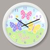 "Olive Kids Butterfly Garden Personalized 12"" Wall Clock"