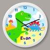 "Olive Kids Dinosaur Land Personalized 12"" Wall Clock"