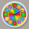 "Olive Kids Numbers Personalized 12"" Wall Clock"