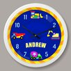"Olive Kids Under Construction Personalized 12"" Wall Clock"
