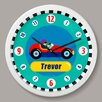 "Olive Kids Vroom Personalized 12"" Wall Clock"