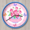 "Olive Kids 12"" Blossoms and Butterflies Personalized Wall Clock"