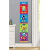 Olive Kids Robots Personalized Peel and Stick Growth Chart