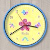"""Olive Kids 12"""" Flowerland Personalized Wall Clock"""
