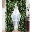 Karin Maki Brown Zebra Curtain Panels (Set of 2)