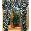 Karin Maki Black Zebra /Cotton Drape Panels (Set of 2)