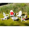 POLYWOOD® Long Island 5 Piece Conversation Adirondack Seating Group