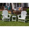 POLYWOOD® South Beach 3 Piece Adirondack Seating Group