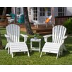 POLYWOOD® South Beach 5 Piece Adirondack Seating Group