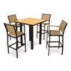 POLYWOOD® Bayline™ 5 Piece Bar Table Set