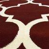 DonnieAnn Company Tiffany Burgundy/Ivory Geometric Area Rug