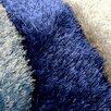 DonnieAnn Company Shaggy Blue Abstract Swirl Area Rug