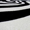 DonnieAnn Company Hollywood Black and White Zebra Skin Area Rug