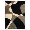 DonnieAnn Company Hollywood Black Abstract Wave Area Rug