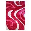 DonnieAnn Company 3D Abstract Wavy Swirl Area Rug