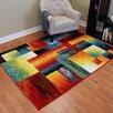 DonnieAnn Company Rainbow Abstract Block Area Rug