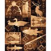 DonnieAnn Company Lodge Design Goose, Fish and Deer Novelty Rug