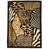 DonnieAnn Company Skinz 70 Mixed Brown Animal Skin Prints Patchwork Area Rug